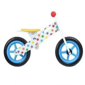Bicicleta sin pedales de madera con estrellas