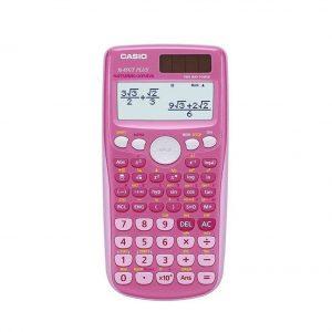 Calculadora científica en color rosa