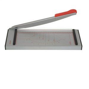 Cortadora de papel gris y roja